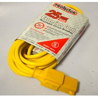 Protector 25' Extension Cord - Resetable circuit breaker-indoor and outdoor.