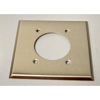 Cooper #S703 2 Gang / 2.12 Dia Stainless Steel Unbreakable Receptacle Wall Plate