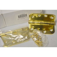 4 x 4 Polished Brass Hinges - Mortise - 2 pcs - Made for Grainger