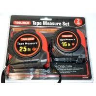 "Toolrich Tape Measure Set - 25' and 16' x 1""- #237-0980"