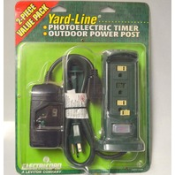 Electricord Yard-Line #C-5014-1/C00: Photoelectric Timer and Outdoor power post.