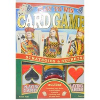 Play to Win Card Games, cards, pencils, score pads and 80 page book.