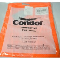 Condor 1YAR6 Vest Hi-Vis Class 3 Orange 3XL - Polyester Mesh, Silver Stripe.