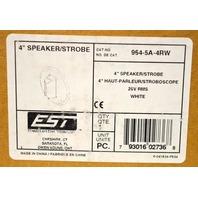 "EST 964-5A-4RW, White 4"" Speaker/Strobe 25V RMS"