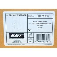 """EST 965-7A-4RW - White - 4"""" Speaker/Strobe"""