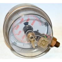 Noshok Pressure Gauge AC or DC 24 to 250V Max, 30,000 kPa - 0-5000, Stainless Steel
