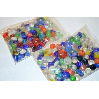 2 Pounds of Marbles - Round, Flat Small and Large - Decorative Marbles.