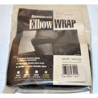 "Remedease Elbow Wrap Support, XL 12 to 13""-Black - Adjustable."