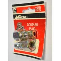 """Milton #s1810 Coupler Plug - P style - 1/4"""" FNPT - 2 pack"""