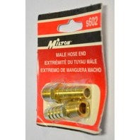 Milton #s602 Male Hose End - Brass - 2 pack