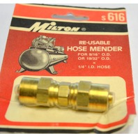"Milton #s616 Re-Usable Hose Mender, for 9/16"" O.D. or 19/32"" O.D. x 1/4"" I.D. Hose"