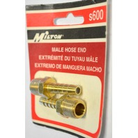 Milton #s600 Male Hose End - 2 pack