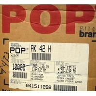 Pop Brand-#AK 42-H Rivets - Aluminum body Steel Mandrel-Box of 9450 pieces.