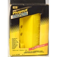 Hubbell HLDMP Lockout Device, Molded Plugs - Yellow