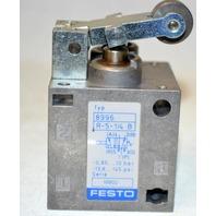 "Festo #8996, R-5 1/4B 1/4"" NPT - Pneumatic Roller Lever Valve"