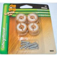 """Shepherd Slip n Grip Furniture Glides - 1""""- 4 pack - #3691- /Wood grain look- 2 Packs"""