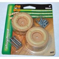 """Shepherd Slip n Grip #3693 - 2""""- 4 pack - Dual Function Furniture Pad-Wood grain"""