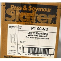 Pass & Seymour P1-00-ND Low Voltage Ring w/Slide Bracket- 15 Piece Lot.