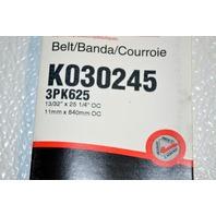 Gates K030245 - Alternate #3PK625 -Micro-V Belt New Old Stock