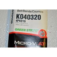 Gates K040320 - Alternate Number- 4PK816 - Micro-V Belt New Old Stock