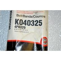 Gates K040325 - Alternate Number 4PK829 - Micro-V Belt New Old Stock