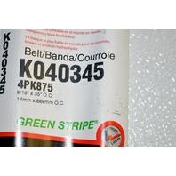 Gates K040345 - Alternate Number 4PK875 - Micro-V Belt New Old Stock