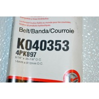 Gates K040353 - Alternate Number 4PK897 - Micro-V Belt - New Old Stock