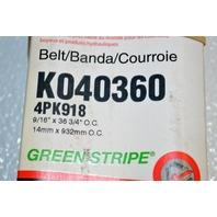 Gates K040360 - Alternate Number 4PK918 - Micro-V Belt - New Old Stock