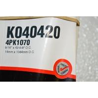 Gates K040420 - Alternate Number 4PKK1070 - Multi V Groove Belt - New Old Stock