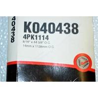 Gates K040438 - Alternate Number 4PK1114 - Micro-V Belt - New Old Stock