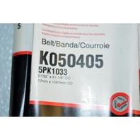 Gates K050405 - Alternate #5PK1033 - Micro-V Belt - Old New Stock