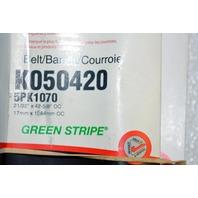 Gates K040520 -Alternate #1070 - Multi V-Groove Belt - New Old Stock