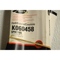 Gates K060458 - Alternate #6PK1165 - Serpentine Belt - New Old Stock