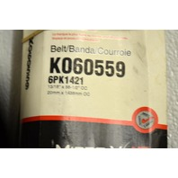 Gates K060559 - Alternate #6PK1421 - Serpentine Belt - New Old Stock
