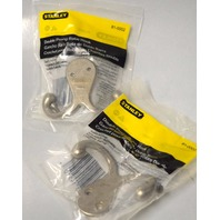 Stanley Double Prong Robe Hook #81-0002 - 2 pieces - Satin Nickel Finish