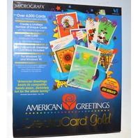 CreataCard Gold by Micrografx AD1L10ENG / CD ROM - American Greetings