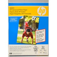 HP Q8690A Photo Paper, Glossy, Inkjet - 60 Sheet, 5 x 7""