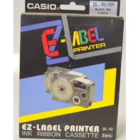 Casio EZ-Label Printer Ink Ribbon Cassette-2 pcs-IR-18 - Silver