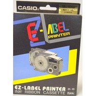 Casio EZ-Label Printer Ink Ribbon Cassette-2pcs- IR-18 - Gold - Black Ink