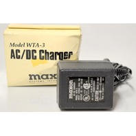 Maxon WTA-3 AC/DC Charger Plug in Class 2 Transformer