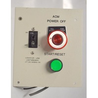 ACM Conveyor Control Box-On/Off Switch-Start/Reset Momentary-Pull/Push-Start/Stop