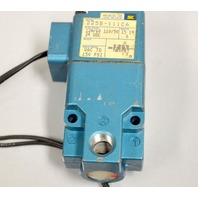 MAC Solenoid Valve Model 225B-111CA Vacuum to 150 PSI, 120/60-110/50 24 VDC