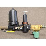 Gast AH110R pressure regulator, AH109F Inline Filter, Asco 8240B54 Solenoid Valve Set up