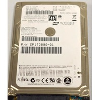 "Fujitsu Model#MHY2040PH, Part#CP70890-01, 40 GB Sata, 5V, 0.06A. 2.5"" hard drive."