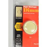Pass & Seymour #R1000-IV High Wattage Dimmer, 1000 Watt, Single Pole, Dial On/Off