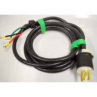 Hubbell HBL2621 Twist lock 30A, 250V with 12' of 10 awg (UL) sjt.