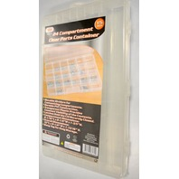 """24 Compartment Clear PVC Parts Container - 15""""L x 9 1/4""""W , 1 13/16"""" H."""