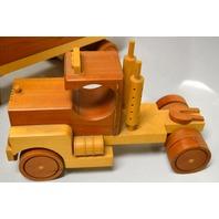 Craftsman Hand made wooden Semi Truck