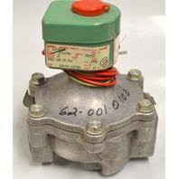 Asco 8215B54 / 110/120 V, 50/60Hz, 15.4Watts Fuel Gas Valve 25 PSI.