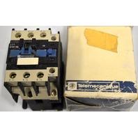 Telemecanique 120V, 60 Hz, G6, LC1 D21 10 Contactor.